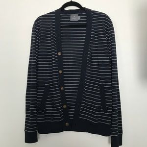 Blue with white stripes cardigan